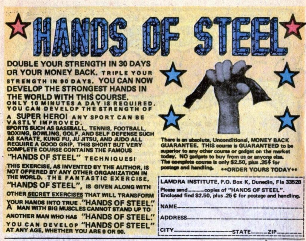 ad nine hand of steel