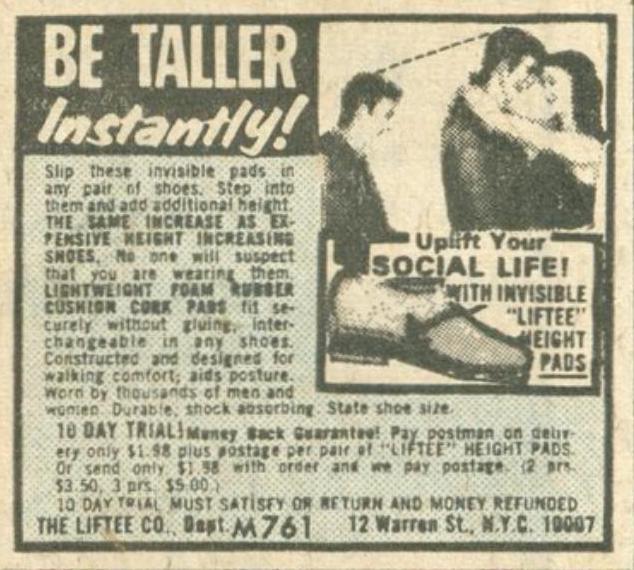 ad twelve be taller!
