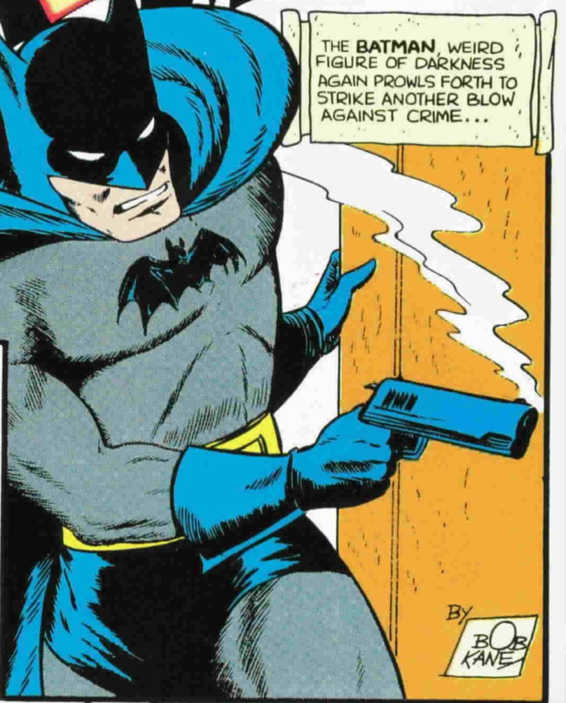 tec 35 gun toting Batman