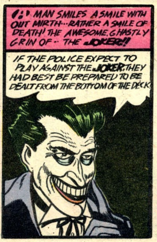 Batman #1 Joker's debut