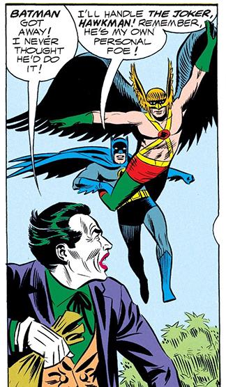 JLA #34 - Bat & Hawk vs Dream Joker