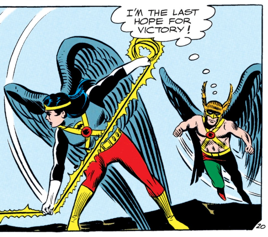 JLA #31 Hawkman joins